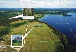 Участок с домом на границе с Белорусией - на озере Ситас